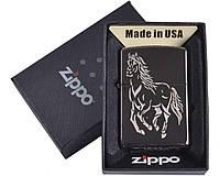 Зажигалка бензиновая Zippo (Лошадь) №4729-7, в подарочной упаковке