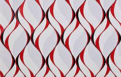 Обои на стену, виниловые, 1054-16, красный, черный, обои, бумажная основа, 0,53*10м