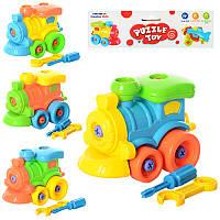 КОНСТРУКТОР 88602, игрушка, паровоз на шурупах, игра для детей