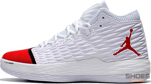 Мужские кроссовки Nike Air Jordan Melo M13 White/Red