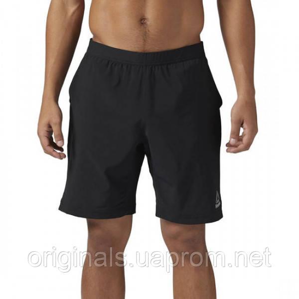 Черные мужские шорты Рибок для тренировок Speed BQ3522