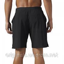Черные мужские шорты Рибок для тренировок Speed BQ3522, фото 3