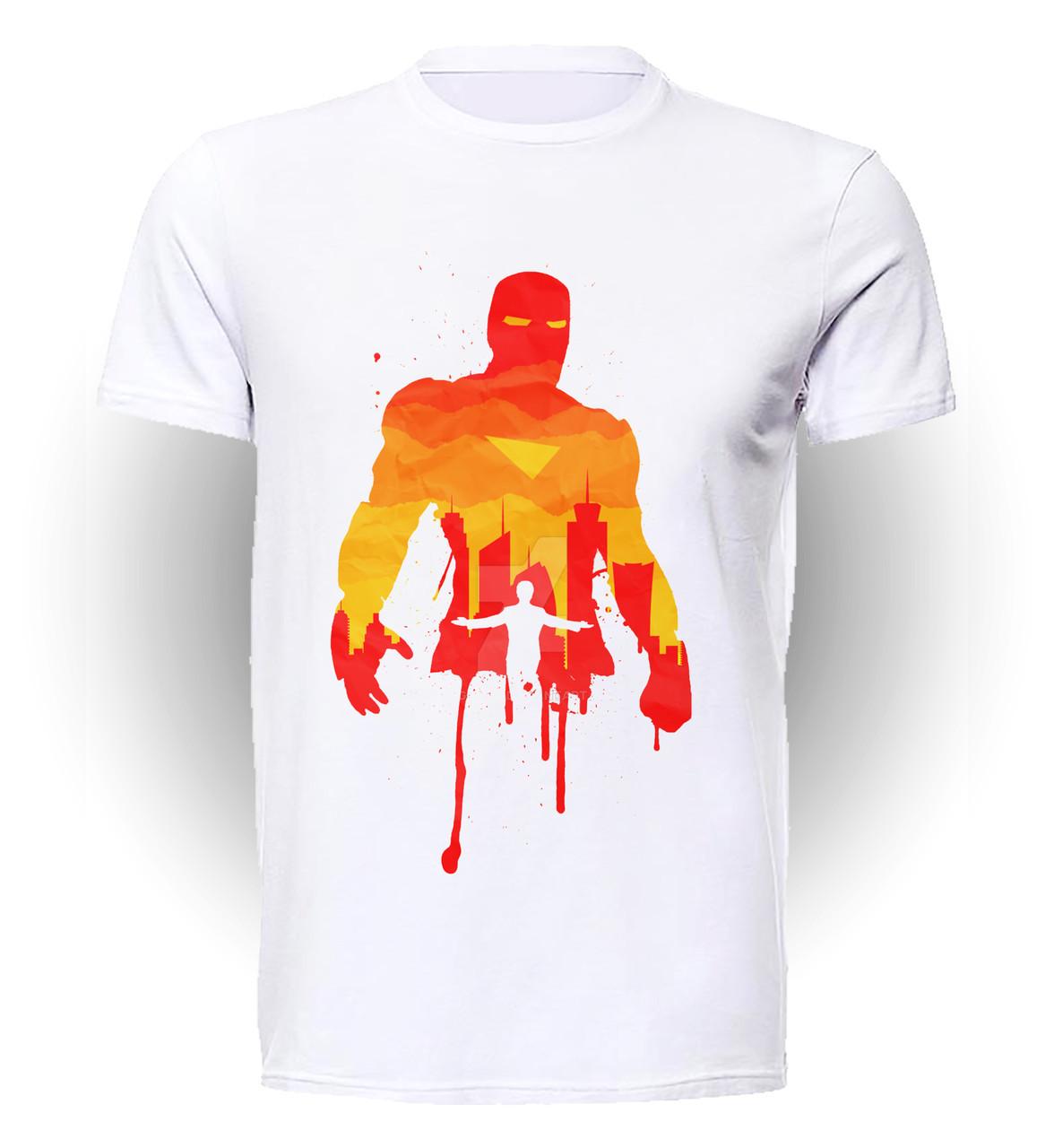 Футболка мужская размер XL GeekLand Железный Человек Iron Man orange Аrt IM.01.008