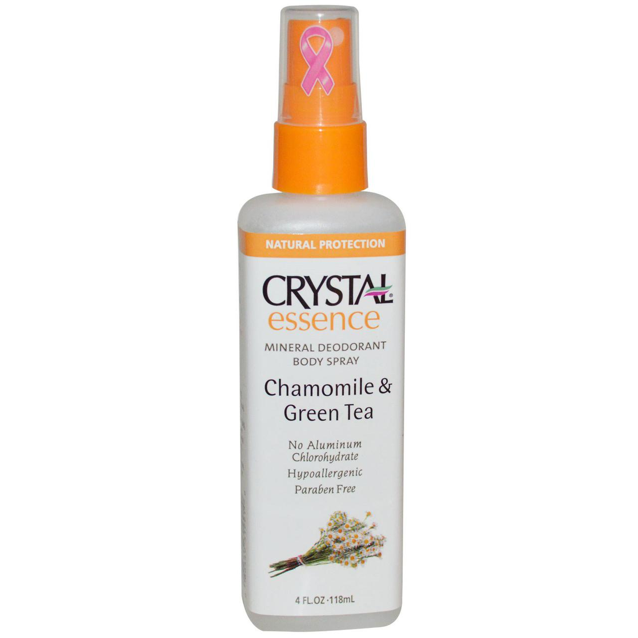 Crystal Essence Deodorant Chamomile & Green Tea Spray Роликовый дезодорант(ромашка и зел.чай)118мл