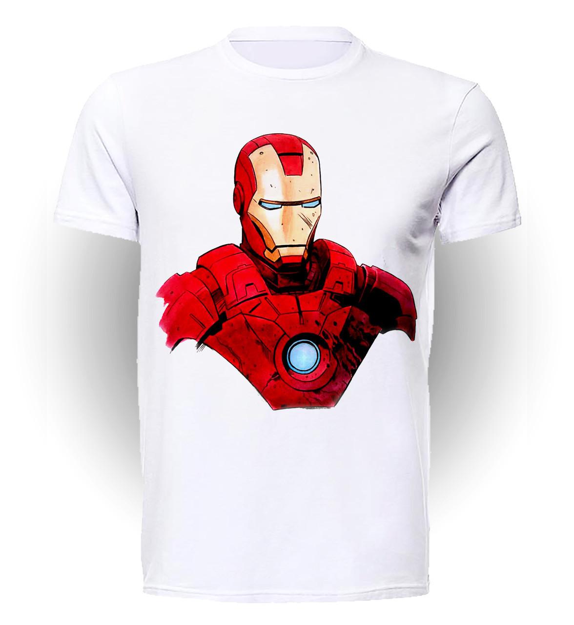 Футболка мужская размер XL GeekLand Железный Человек Iron Man рисунок Аrt IM.01.017