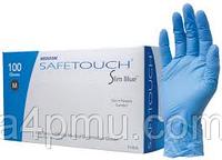 Перчатки SafeTouch Slim Blue Nitrile S (буз пудры)