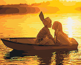 Картина по номерам Первая любовь (KHO2322) Идейка 40 х 50 см (без коробки)