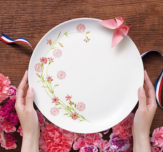 Diwali Romance Pink Тарелка обеденная круглая 27 см Luminarc N3347