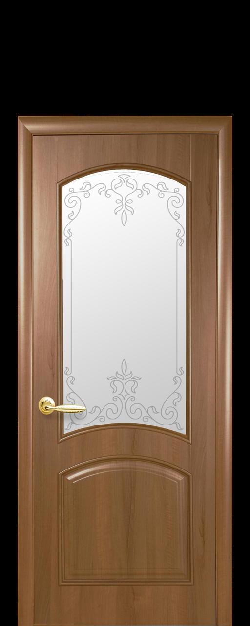 """Межкомнатные двери """"Антре"""" со стеклом сатин и рисунком"""
