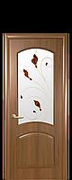 """Межкомнатные двери """"Антре"""" со стеклом сатин и цветным рисунком, фото 1"""