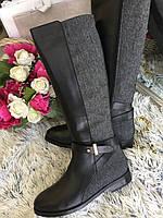 женские сапоги евро-зима из натуральной кожи