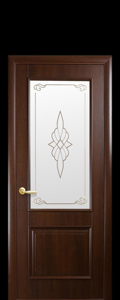 """Межкомнатные двери """"Вилла"""" со стеклом сатин и рисунком"""