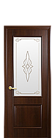 """Межкомнатные двери """"Вилла"""" со стеклом сатин и рисунком, фото 1"""