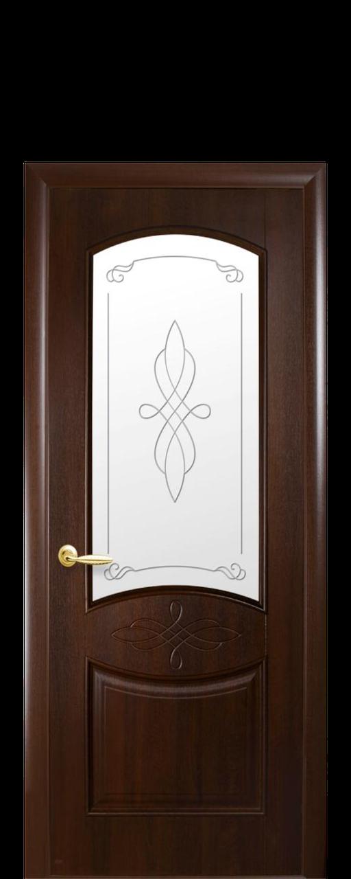 """Межкомнатные двери """"Донна"""" со стеклом сатин и рисунком"""