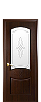 """Межкомнатные двери """"Донна"""" со стеклом сатин и рисунком, фото 1"""