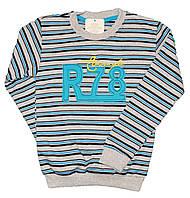 """Батник подростковый """"R_78"""" из трикотажа в полоску для мальчиков. размеры 9-12 лет"""