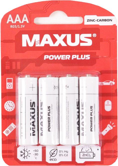 Батарейка солевая Maxus Zinc-Carbon R03-AAA-C4