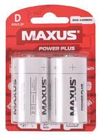 Батарейка солевая Maxus Zinc-Carbon R20-D-C2