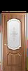 """Межкомнатные двери """"Рока"""" со стеклом сатин и рисунком"""