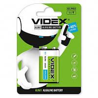 Батарейка щелочная 6LR61/9V (Крона)1pcs BLISTER CARD VIDEX