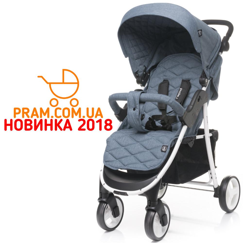 Прогулочная коляска 4baby Rapid Лен 2018 Blue Синий