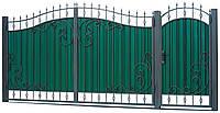 Ворота и калитка с элементами ковки ВР-8