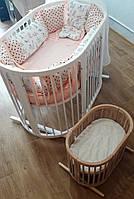 Кроватка овальная, деревянная для питомца или игрушки