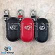 Ключница карманная (кожаная, черная, на молнии, с карабином, с кольцом), логотип авто Lexus (Лексус) , фото 2