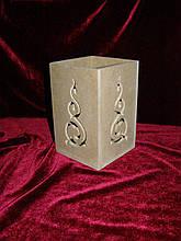 Подсвечник (10 х 10 х 15 см), декор