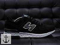Мужские весенние кроссовки Bayota черные с белым