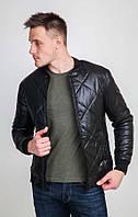 Мужская весенняя куртка - бомбер стёганая ромбами