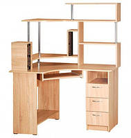 Угловой компьютерный стол Компакт с надстройкой. Стол для ПК в кабинет и офис