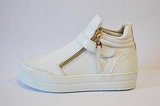 Ботинки белые женские Olli 1504, фото 3
