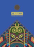 Блокнот-планшет клееный сверху А-5 48л клетка картон. обложка Buromax BM.2477 (ассорти)
