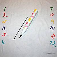 Фотозона и карандаш ростомер для девочки, расцветка груши