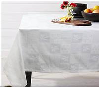 Скатерть на круглый стол М5 белая