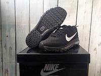 Мужские кроссовки Nike Air Max 2017 all black. Реальное фото! (Реплика ААА+)