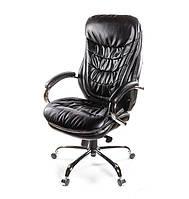 Кожаное кресло ВАЛЕНСИЯ SOFT CH MB черный