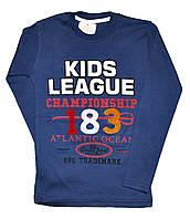 """Батник подростковый """"KIDS LEAGUE""""  из трикотажа для мальчиков. размеры 9-12 лет"""
