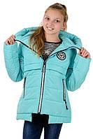 Подростковая куртка на девочку (мята)