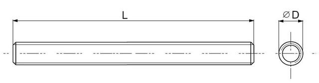 Схема шпильки DIN 975