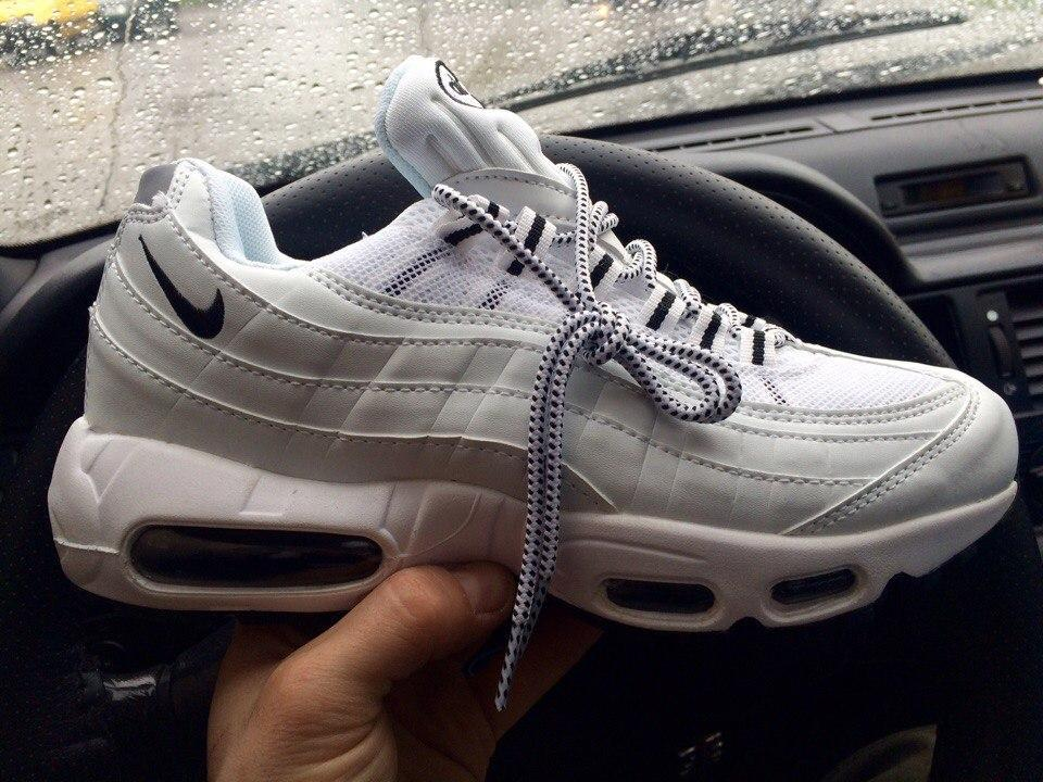 0539295f Кроссовки Nike Air Max 95 all white. Живое фото! Топ качество (Реплика ААА