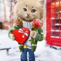 С Днём Святого Валентина. Магнит на холодильник 04