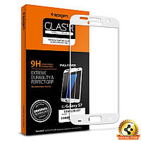 Защитное стекло для Samsung S7 Full Cover, White