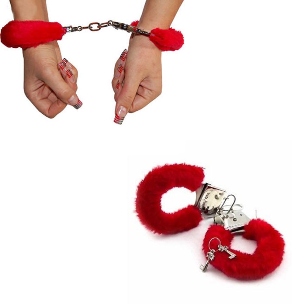 Пухнасті червоні наручники до дня Святого Валентина