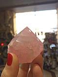 Рожевий кварц обеліск Полуобработанное сировину, фото 7