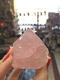 Рожевий кварц обеліск Полуобработанное сировину, фото 8