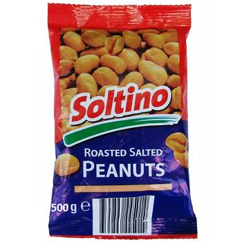 Орешки-арахис жареннй+соленый -Soltino 500 г (Чехия)