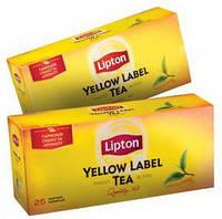 Чай черный Lipton Yellow Label Tea Липтон Тиа 25 пакетов