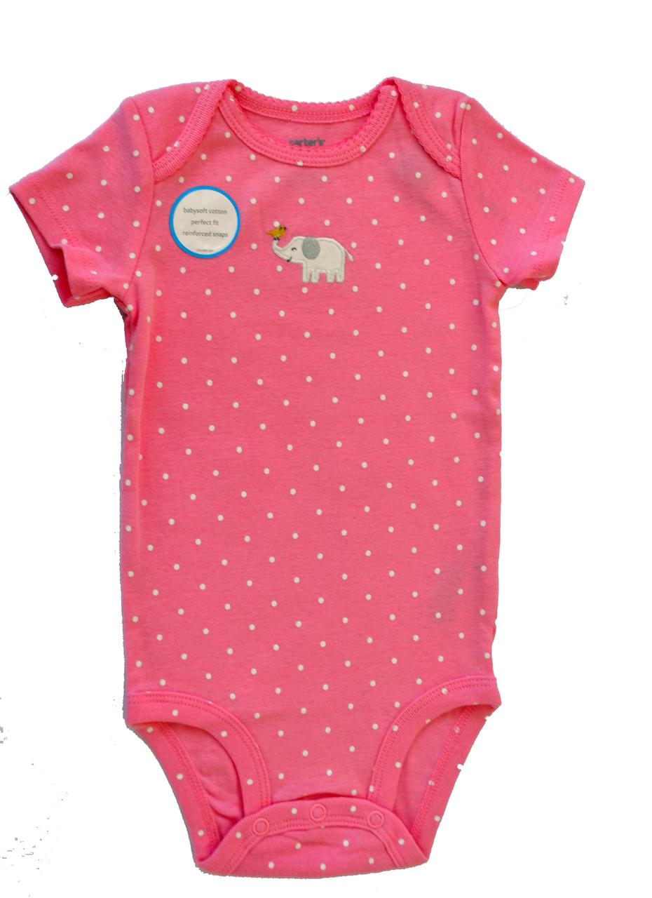 Carters Бодики для девочки короткий рукав Слоник - Магазин трендовых  игрушек и одежды для детей в 6288086741d88